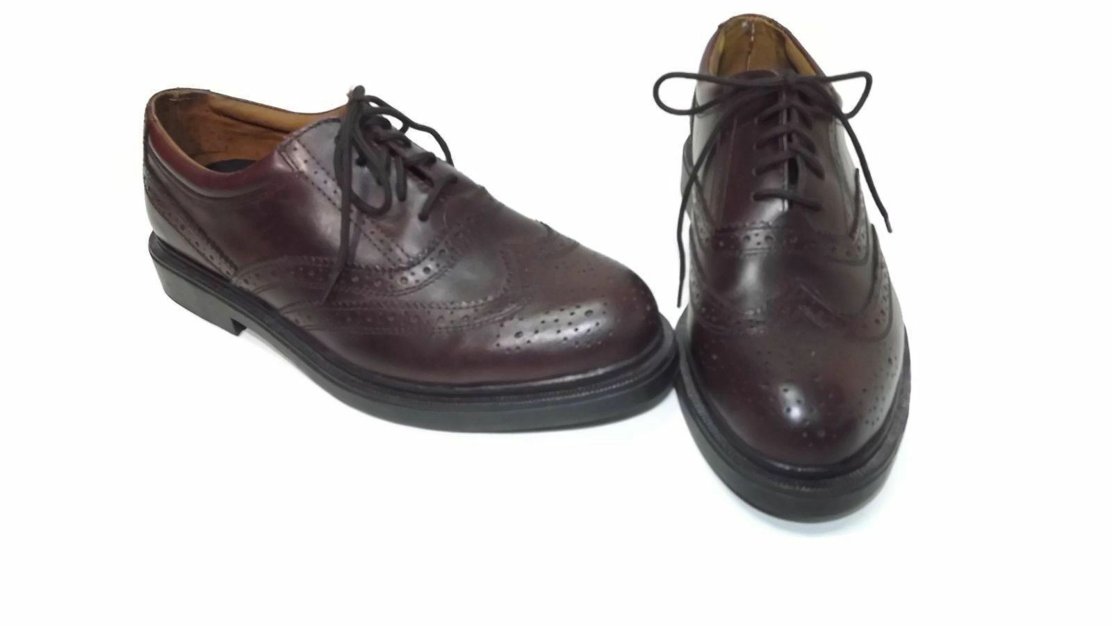 DR Scholl's BACKGUARD Mens BROWN Leather Wingtips Dress to Casual shoes Size 8