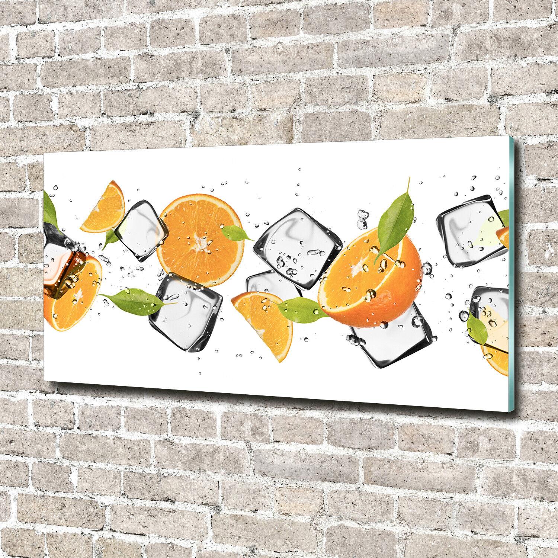 Acrylglas-Bild Wandbilder Druck 140x70 Deko Essen & Getränke Orangen Eis