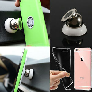 Voiture-Support-Magnetique-Titulaire-Telephone-Car-Mount-Universel-amp-TPU-Coque