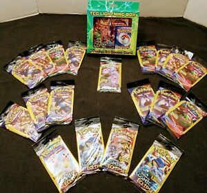 Pokemon TCG LOT-Lightning Box(x1)Booster Packs(x4) 3 Card Booster Packs(x19) NEW