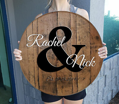 Tuscan Vineyard Wine Cellar Bar Sign Gift Personalized Whiskey Barrel Home decor
