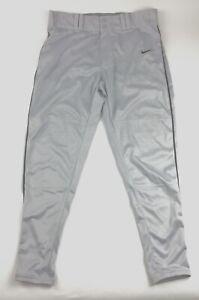 Frugal Nike Neuf Custom Longball Baseball Pantalon Homme L Gris Noir Passepoilé 638302$