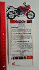 Aufkleber/Sticker: Honda CBR 125 R Motorcycle / Motorrad (20101616)