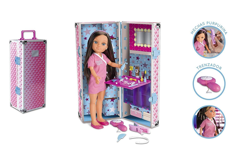 Nancy Puppe mit Koffer Tragbar Frisuren Flechter und Produkte von Beauty