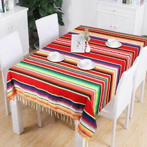 Large-Mexican-Tablecloth-Serape-Blanket-with-Pom-Pom-Trim-for-Mexican-Home-Decor
