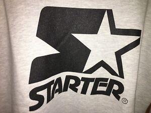 Color Grigio Nuova Black Tuta Uomo Label Starter Giricollo New Felpa Xl Taglia XvY4O