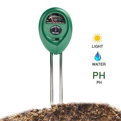 3 in 1 Boden Tester Kit Messer Messgerät Pflanze Blumen Gras PH Feuchtigkeit Neu