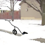 Rolling Adjustable Pusher with Wheels Lever Shovel Plow Heavy Duty Snow Shovel