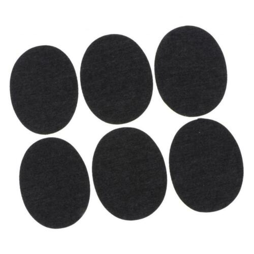 6x Denim Iron on Fabric Patches Pants Jackets Jeans Patches Craft Black