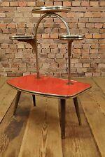 Vintage BLUMENTISCH 50er Rockabilly Mid Century Design Blumenbank Blumenetagere