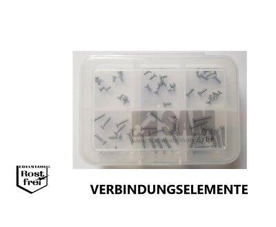 M2 Schraubensortiment 600 Teile Edelstahl A2 DIN 912 Sortiment