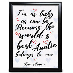 Personalised Auntie Gifts Superhero Birthday Christmas Aunty Aunt Gift for her