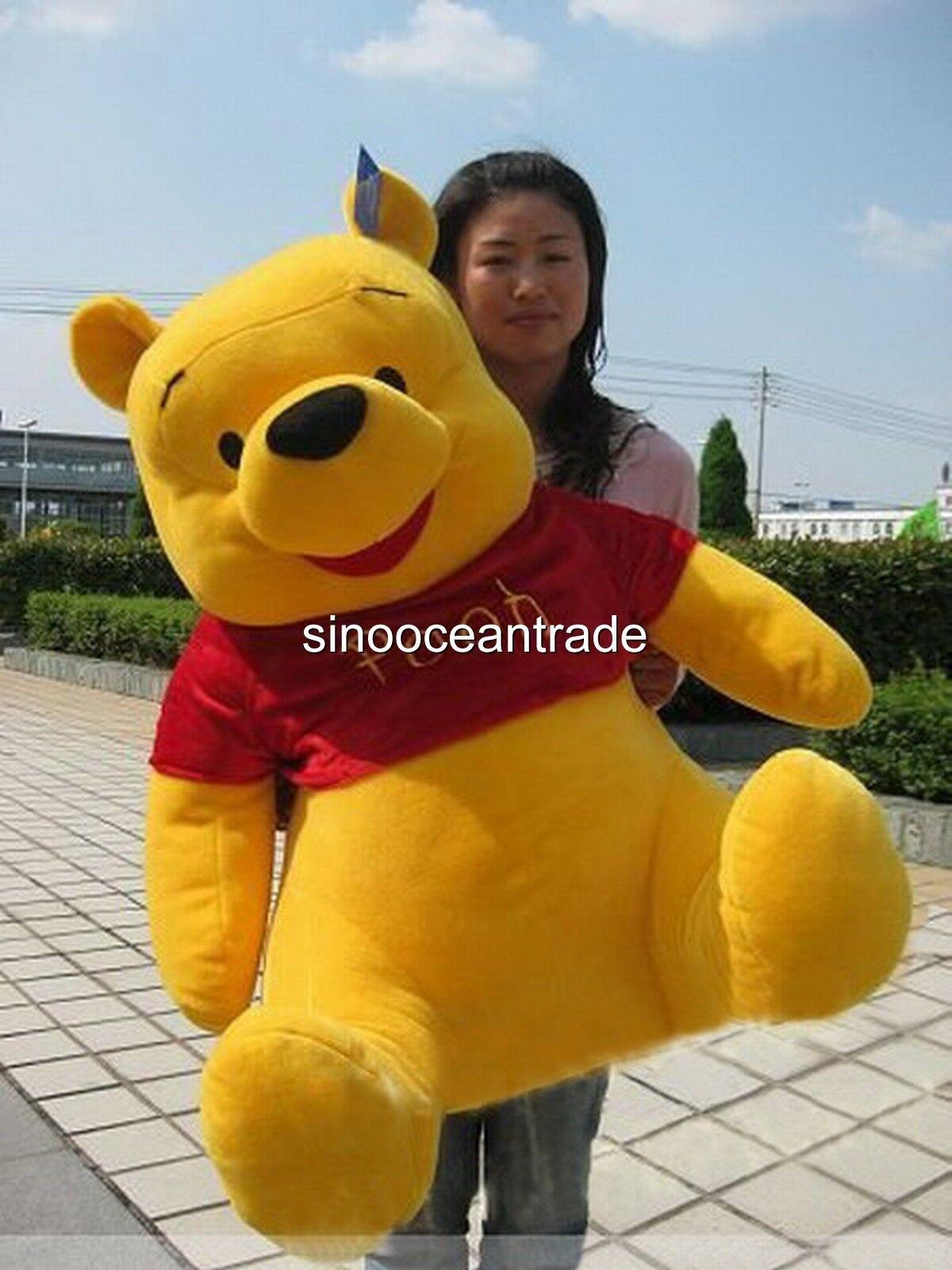 40'' Giant Cute  Winnie The Pooh Bear Soft Stuffed Plush Toy Jumbo Stuff Doll