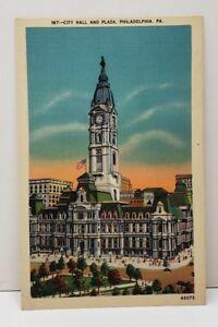 Philadelphia-Pa-City-Hall-and-Plaza-Postcard-C1