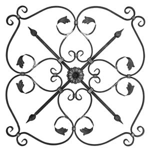Rosette für Gartenzaun Geländer Zaun Pforte Tor Tür 028 Ornament Schmiedeeisen