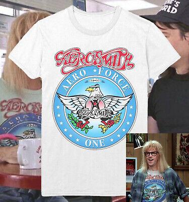 Wayne/'s World Garth Algar Aerosmith T-shirt Halloween Costume Unisex Shirts