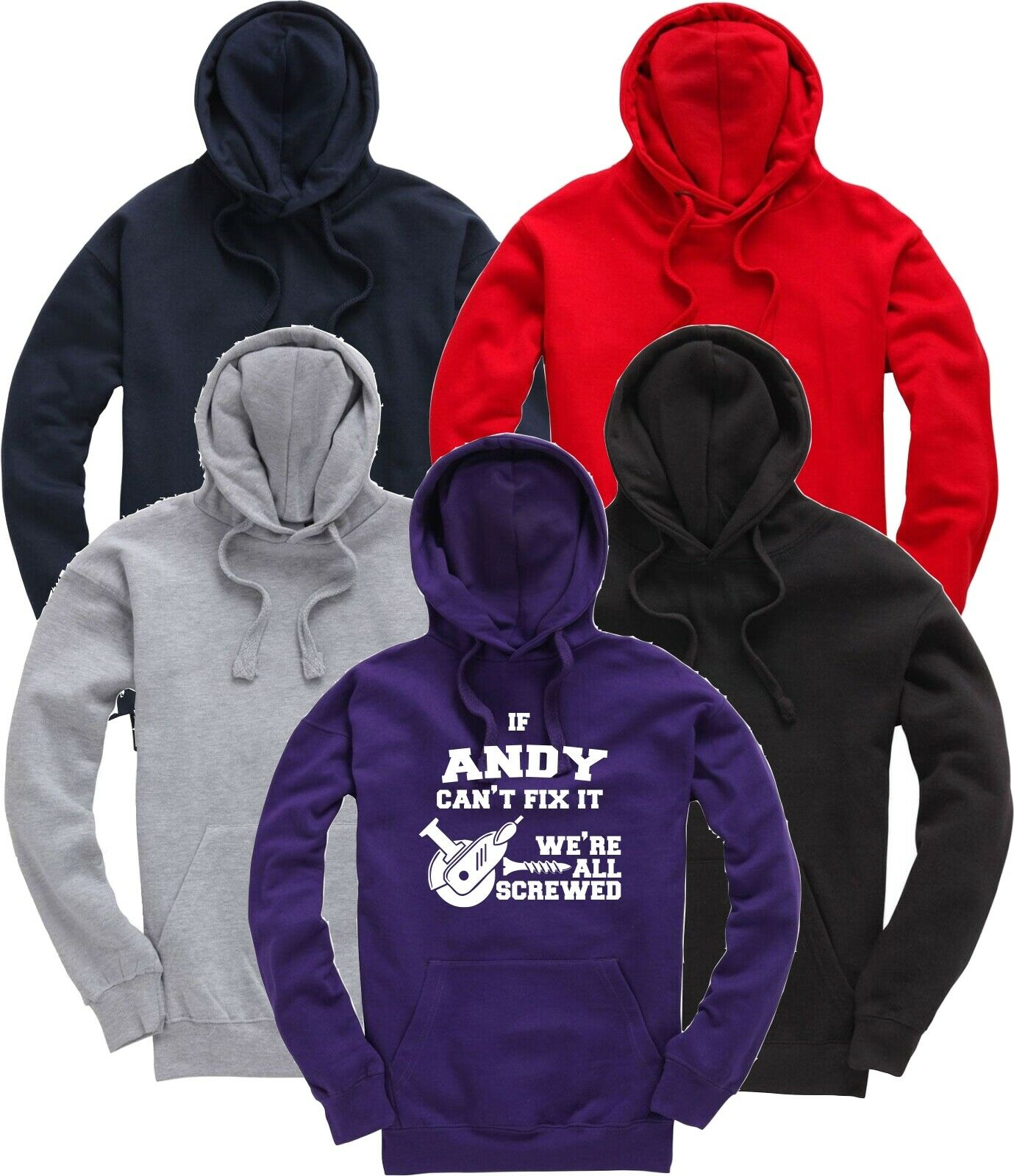 Personalised If (NAME) Grandad etc Can't Fix It Funny Gift Hoodie Hooded Top