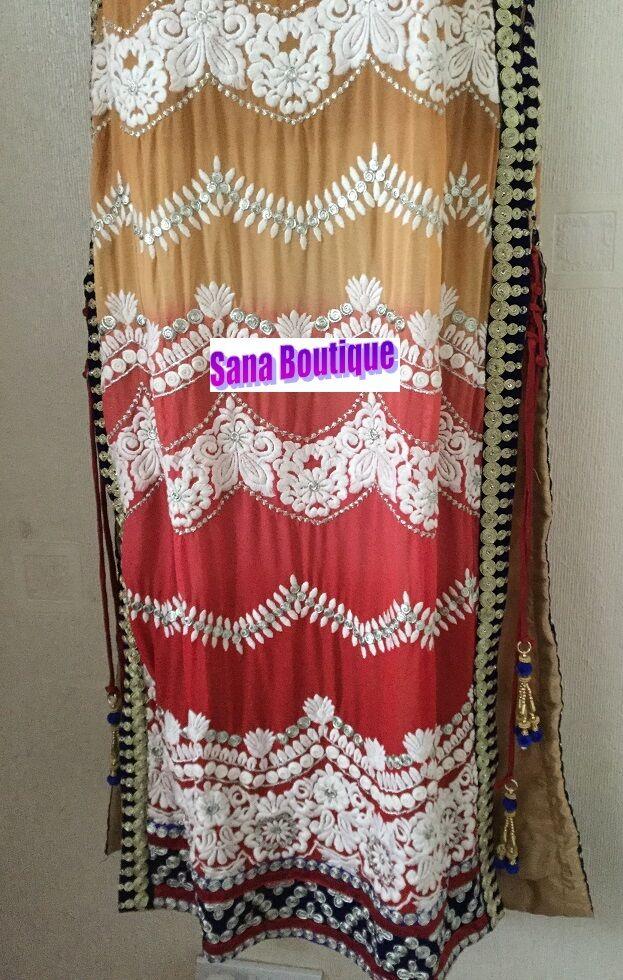 META 'PREZZO DI VENDITA Più Più Più Recente Indiano Pakistano di marca cucite Abito Maxi Lunga Salwar 24448b