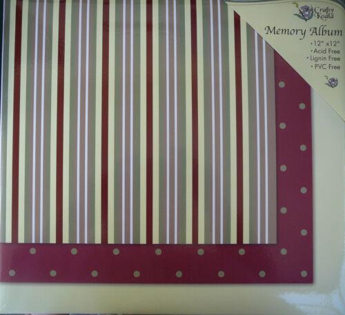 12/'X12/' Striped Post Bound Scrapbook Album Crafty Koala