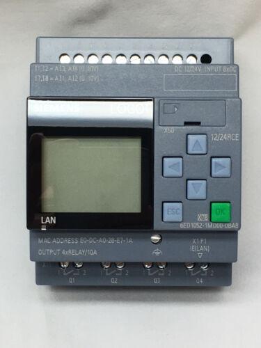 Siemens LOGO Modul 6ED1 052-1MD08-0BA0  12//24RCE mit Display 8 Ein 4 Rel 01//20