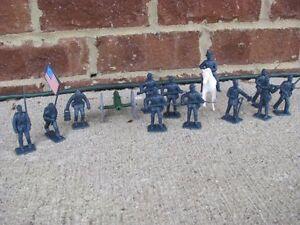 Civil-War-Union-Infantry-Artillery-Set-1-32-54MM-Toy-Soldiers-Gettysburg-Battle