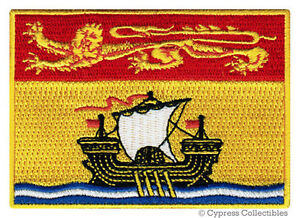 NEW-BRUNSWICK-FLAG-embroidered-iron-on-PATCH-CANADA-EMBLEM-Canadian-Province