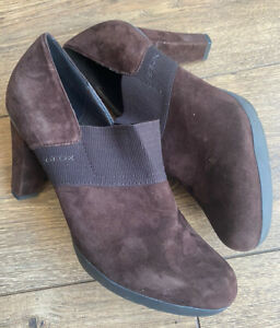 saltar interno Resbaladizo  New Geox Respira Brown Suede Comfort Leather Ankle Boots 7 40 | eBay