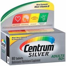 Centrum Silver Adult Multivitamin/Multimineral Supplement (80-Count Tablets)