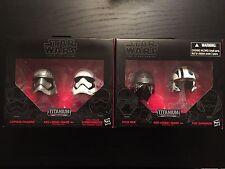 Star Wars Titanium Black Series Captain PHASMA Stormtrooper Helmets POE KYLO REN