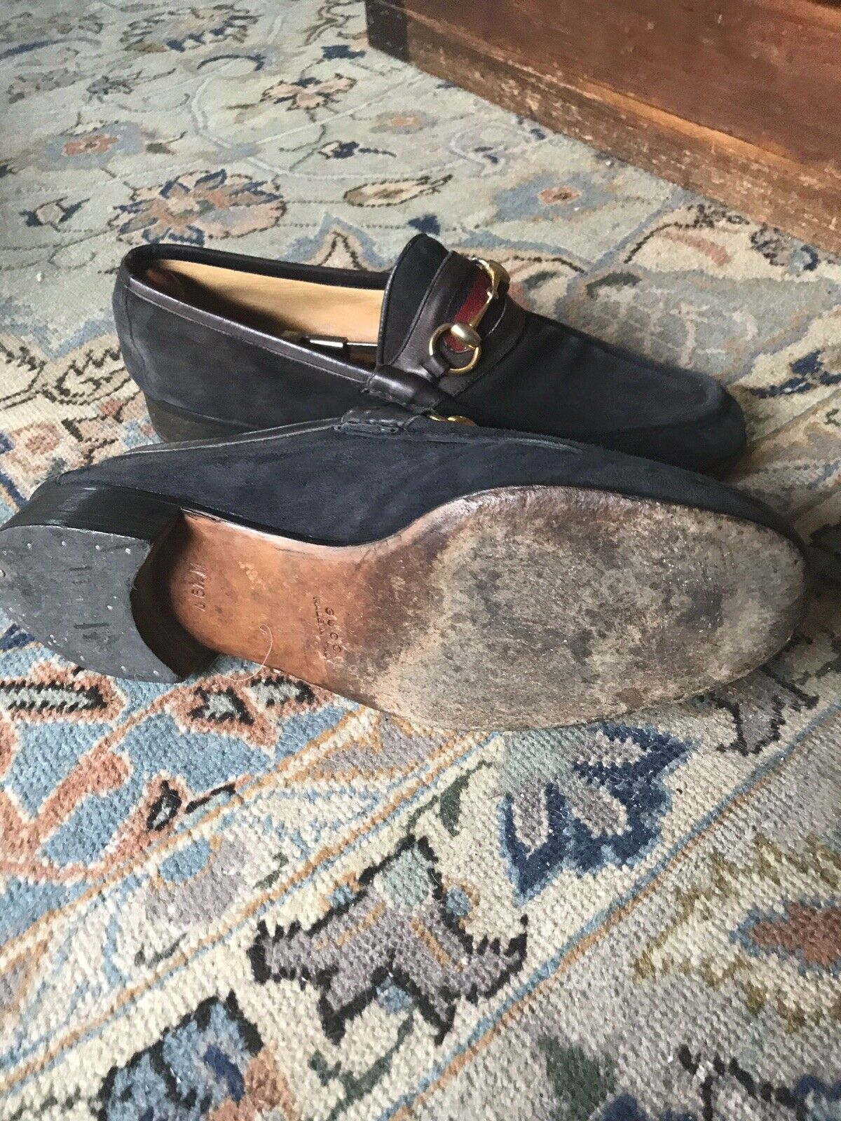 Gucci horsebit suede loafers 45 1/2 - image 7