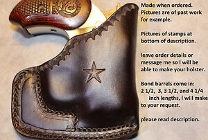 CHOCOLATE AMERICAN INDIAN CARRY HOLSTER for BOND ARMS DERRINGERS