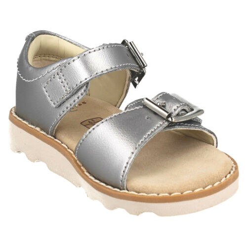 GIRLS CLARKS CROWN BLOOM T TODDLER BUCKLE CASUAL SUMMER SANDALS OPEN TOE SIZE