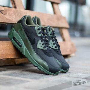 new style f328d 5da2a Nike Air Max 90 Winter Premium PRM green Black shoes sneakers Sz 12 ...