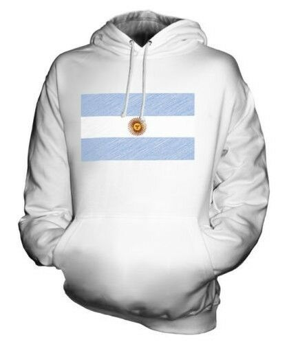 Argentina Scribble Flag Unisex Kapuzenpulli Top Geschenk Argentina Argentinische