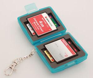 MC-6B-Speicherkarten-Schutzbox-fur-4-x-SD-und-2-x-Compact-Flash-Karten-CF-Cards