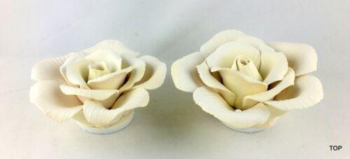 2er Set Deko Rose Blüte Blume Tisch Fenster Zier Keramik Hochzeit günstig