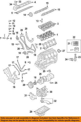 PORSCHE OEM 03-06 Cayenne-Engine Crankshaft Crank Main Bearing 94810120800