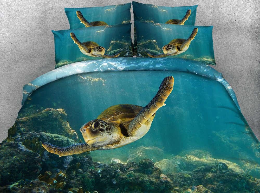 Seafloor Turtles 3D Printing Duvet Quilt Doona Covers Pillow Case Bedding Sets