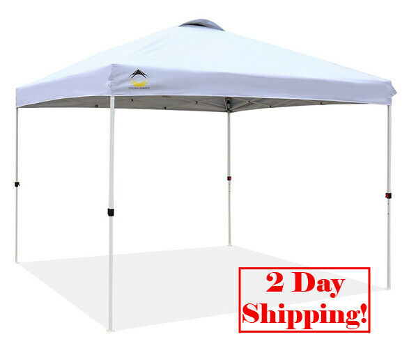 CROWN SHADES Patented 10ft x 10ft all'aperto Pop up Portable Shade Instant Folding