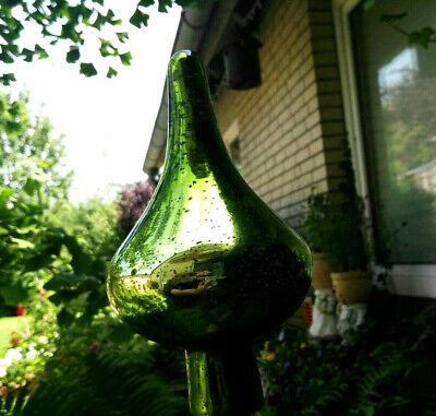 Groß Kugel Rosenkugel Glas Antikfinish Türkis Gartenkugel Garten Bauernsilber