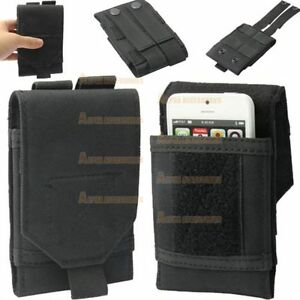 Universal-Army-Black-Belt-Loop-Pouch-For-Mobile-Phone-Hook-Cover-Case-Holster