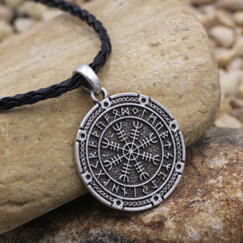 the helm of awe viking Odin norse vikings jewelry Warriors Pendant Necklace