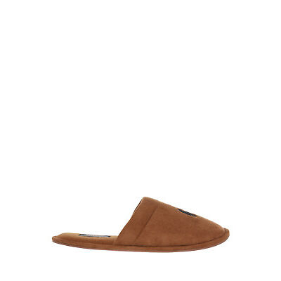 NEW Polo Ralph Lauren Sunday Scuff Microsuede Slipper Tan