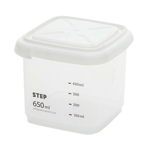Plastic Sealed Cans Kitchen Storage Box Transparent Food Canister Keep Fresh Jar