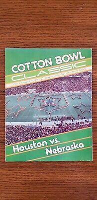 NEBRASKA FOOTBALL 1980 COTTON BOWL PROGRAM NE VS HOUSTON ...