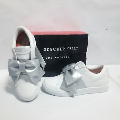 Ragionevole Scarpe Skechers Donna - Prima Little Bow - Bianco - 73607 Facile Da Usare