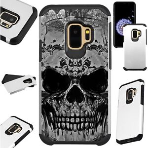 FUSIONGuard-For-Samsung-Galaxy-S9-S8-Note-8-J7-J3-Phone-Case-EVIL-SKULL-GRAY