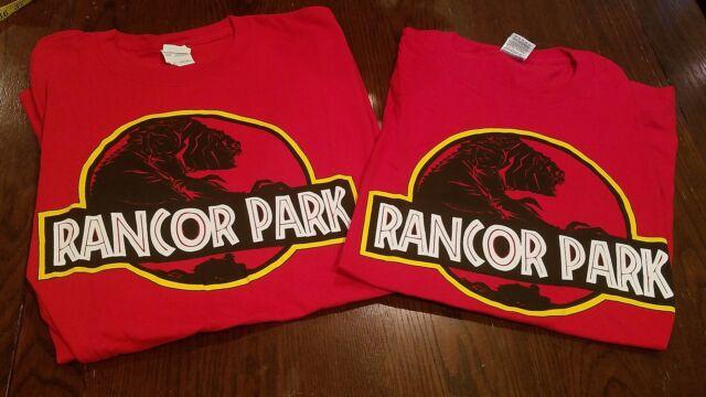 Shin Gojira Godzilla Jurassic Park Logo Men/'s T-Shirt