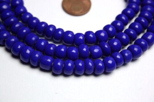 Strang 60 cm Séquoia perles de verre Lapis Bleu Crow Beads Brillant 7-8 mm