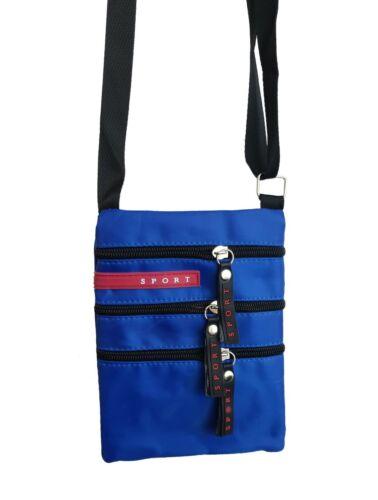Tasche Damen Herren Umhängetasche Flugbegleiter Sport Bag Handtasche Unifarben